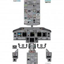 Boeing 737NG cockpit poster