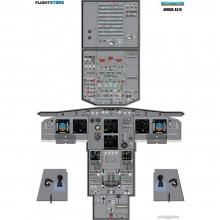 airbus a319 cockpit poster