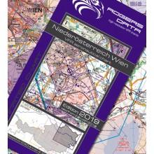 Letecká mapa Dolného Rakúska a Viedne - mapa ICAO 200k 2019