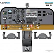 Cessna 172M cockpit poster