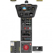 Robinson R22 cockpit poster