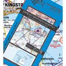 Letecká mapa Anglicko sever VFR - ICAO 500k 2019