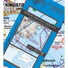 Anglicko juh VFR Letecká mapa - ICAO 500k 2019