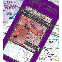 Francúzsko Severovýchod VFR Letecká mapa - ICAO 500k