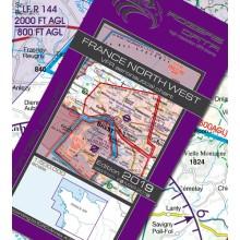 Francúzsko severozápad VFR Letecká mapa - ICAO 500k 2019