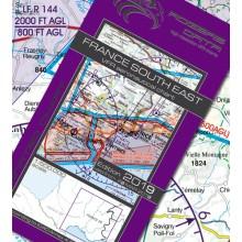 Francúzsko Juhovýchod VFR Letecká mapa - ICAO 500k 2019