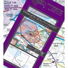 Francúzsko Juhozápad VFR Letecká mapa - ICAO 500k 2019