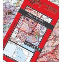 Taliansko západ VFR Letecká mapa - ICAO 500k 2019