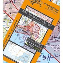 Španielsko Letecká mapa juhovýchod VFR - ICAO 500k 2020